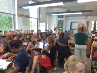 Burns Park Teachers Start Their Day!