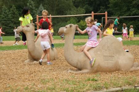 King students enjoying their playground