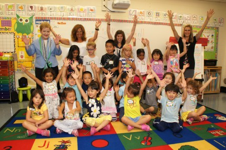 King Elementary students with Superintendent Dr. Jeanice K. Swift