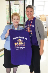 Dr. Swift with Principal Kerry Beal