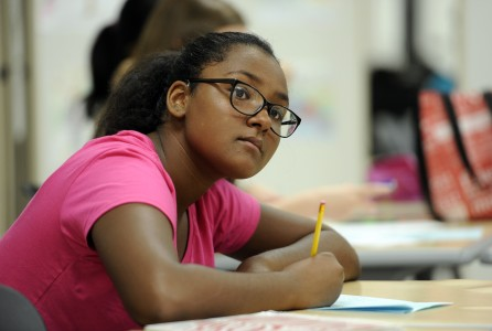 AAPS student deep in study