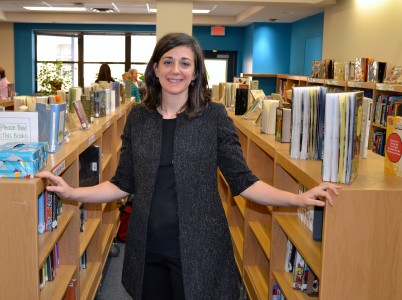Anne Reader can't wait to start filling the media center with new books purchased from the grant.