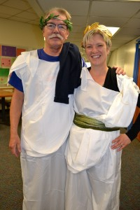 Adult leaders Carl Anderson and Greta Anderson-Finn taught Greek and Roman history during the recent Focus Studies at Ann Arbor Open.