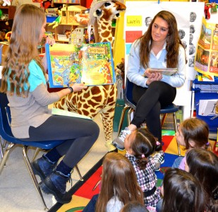 Shannon Vail of the U-M Ginsberg Center (left) and soccer player Maddie Clarfield say they enjoy giving back.