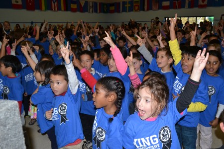 King students during the National Blue Ribbon celebration
