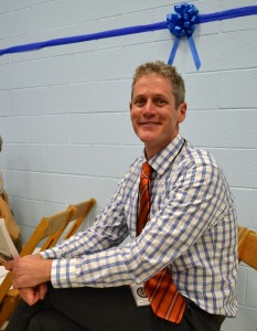 Former King Principal Kevin Karr attended the festive event Friday.