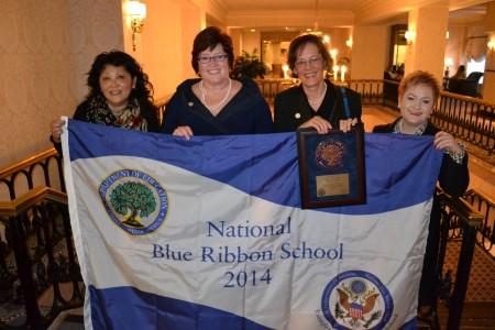 Blue Ribbon Award Ceremony Lisa Teshima, 2nd grade King Teacher, Mary Cooper, Principal, Kathy Morhous, Retired Principal, Dr. Swift, Superintendent