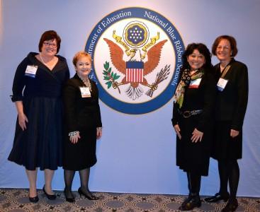 Dr. Swift, King Principal Mary Cooper, King Teacher Lisa Teshima and former Principal Kathy Morhous