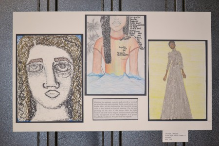 The work of senior Cheyney Chiddick reflects her  pride in her heritage.