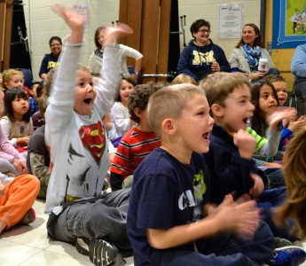 Students cheered nearly everything the ball players said in the Q and A segment.