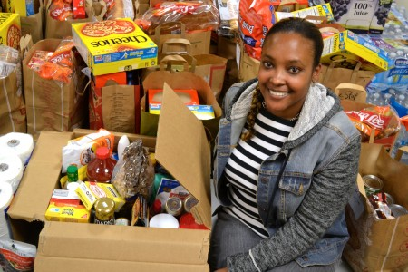 Taryn Reid wants to make sure struggling PHS families have plenty to eat over the holiday break.