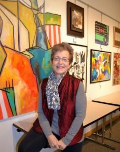 Retired AAPS art teacher Claudia  says