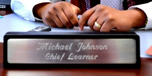 Johnson wants students to know that learning is a lifelong experience.