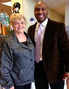 Johnson credits his high school teacher Rosanne Haselschwerdt for helping him find his voice.