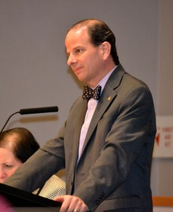 WISD Scott Menzel listens to concerns about transportation issues at Wednesday's Board of Education meeting.