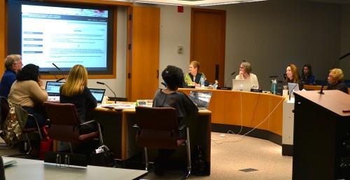 The Ann Arbor School Board meeting Jan. 28.