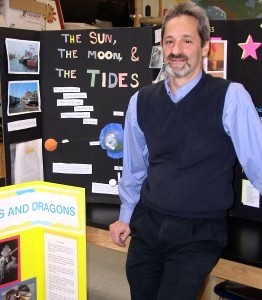 Science teacher Dan Ezekiel, shown at a previous science fair, says such fairs