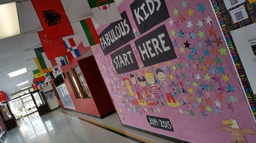 A mural inside Allen Elementary sums up the spirit there.