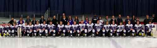 The Pioneer High School Hockey Team, with some of their favorite teachers