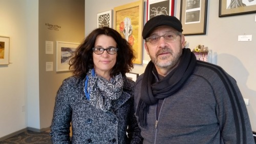 CHS art teachers Elena Flores and Steve Coron are proud of their students, whose work is on display at the WSG Gallery.