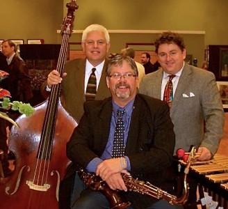 The Doug Horn Jazz Trio includes Paul Keller on bass and Cary Kocher on vibraphone.