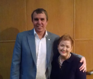 Dr. Eric Betzig and Superintendent Jeanice Swift