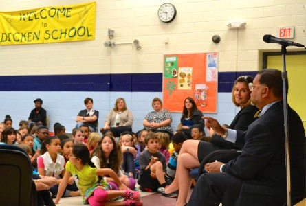 Justices McCormack and Young also spoke at Dicken Elementary.