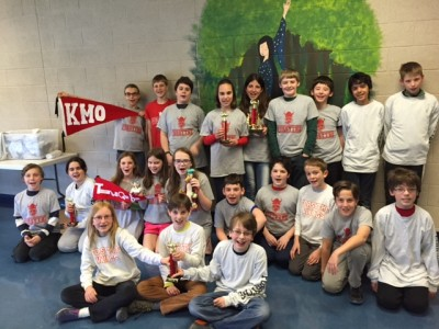 The sixth grade Thinking Cap Club finished third out of 100 teams in the country.
