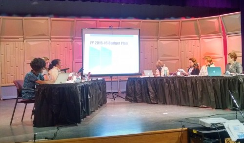 The Board of Education discusses the 2015-16 budget proposal.