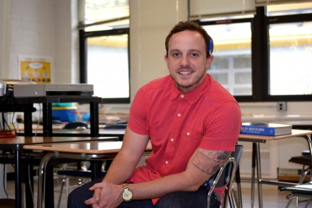 Sam Stern is a social studies teacher at Pathways, which is wrapping up its first year. Photo by Jo Mathis