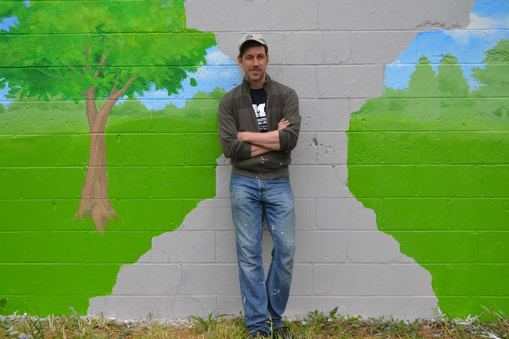 name, at his mural