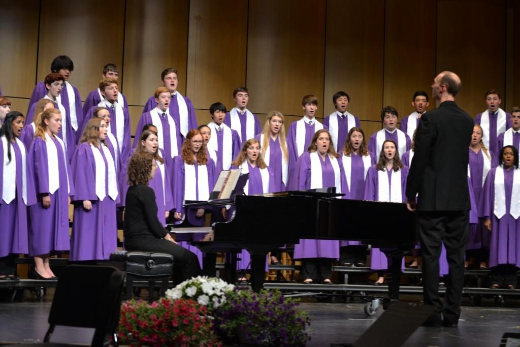 Director of Choirs Steven R. Lorenz directs the A Cappella Choir.