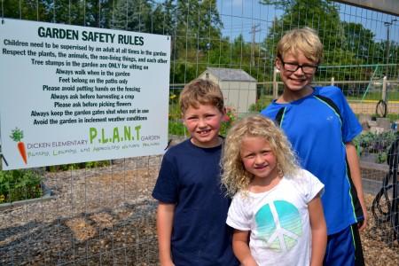 Noah, Rebecca and Elijah helped name the garden.