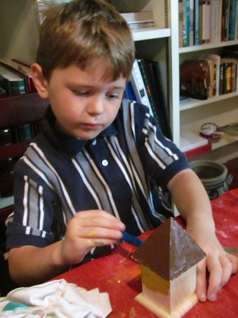 Stephen enjoyed making birdhouses.