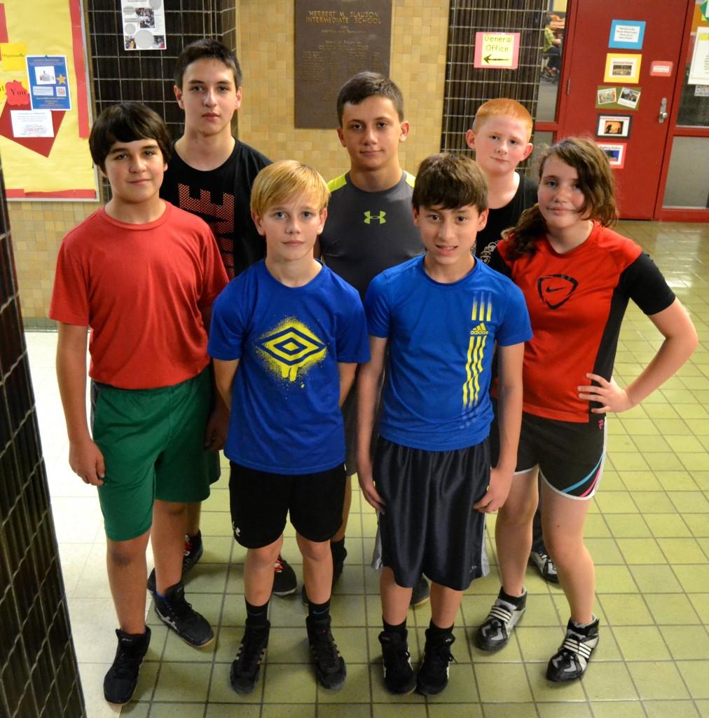 The Slauson Middle School Wrestling Team