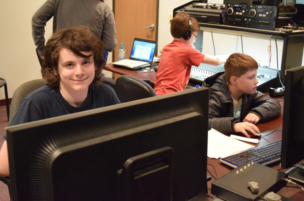 Middle school students learned about the various jobs that go into making television through an Ann Arbor Rec and Ed camp at CTN.