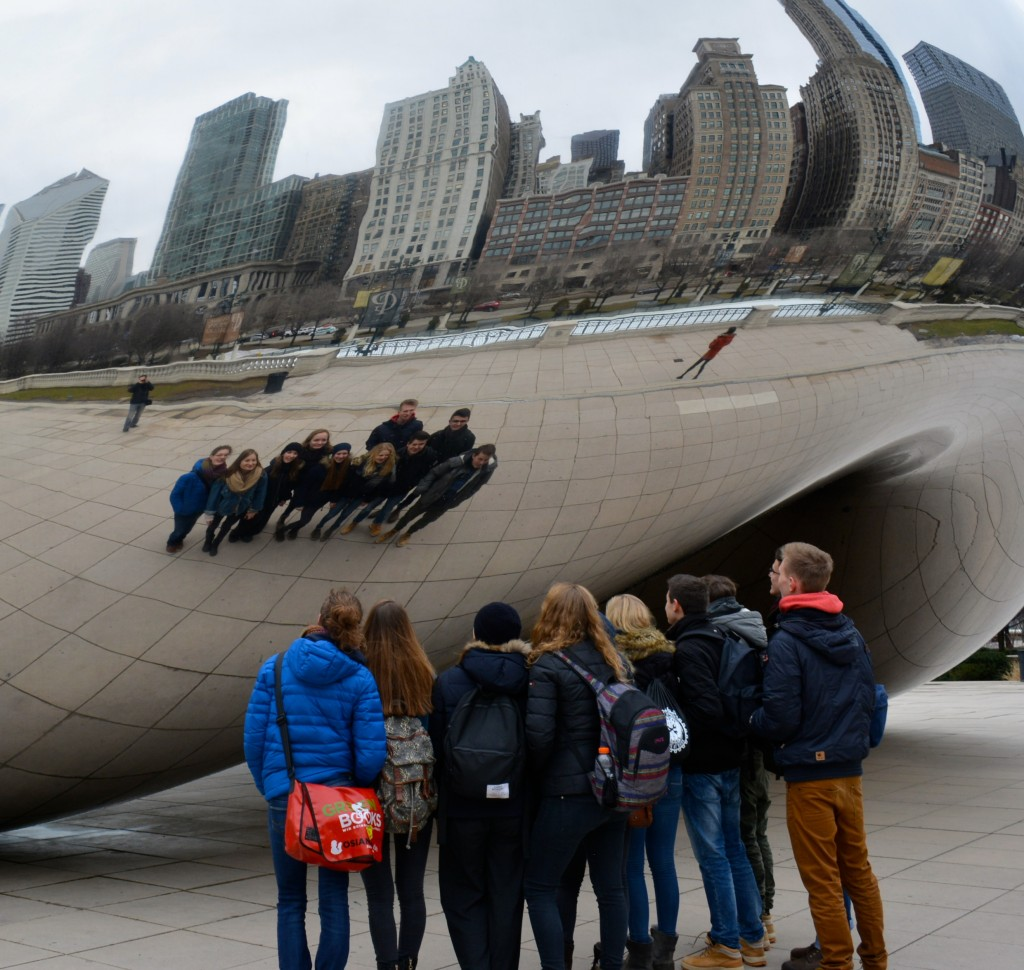 The German students had a fun day exploring Detroit.