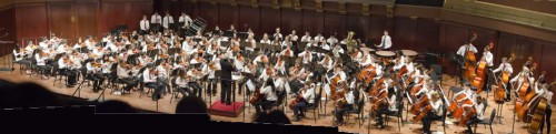 The Tappan Middle School Orchestra is pictured at a previous Orchestra Night at Hill Audiorium.