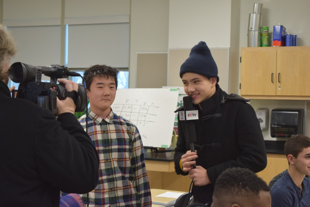 The Chinese TV show Colorful Planet recently filmed at Skyline High School to show a slice of life in an American high school.