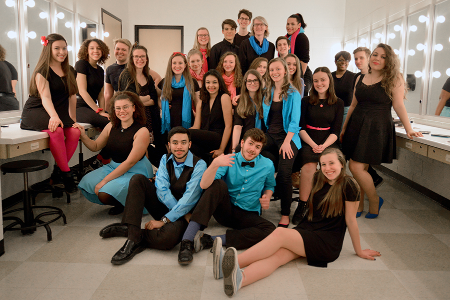 """Skyline Theatre students are preparing songs dances and scenes for """"Get Hype An Evening With Skyline Theatre."""""""
