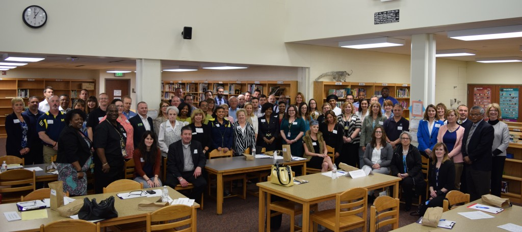 About 70 volunteers that live and work in the Ann Arbor area volunteered to help during Portfolio Day this year.