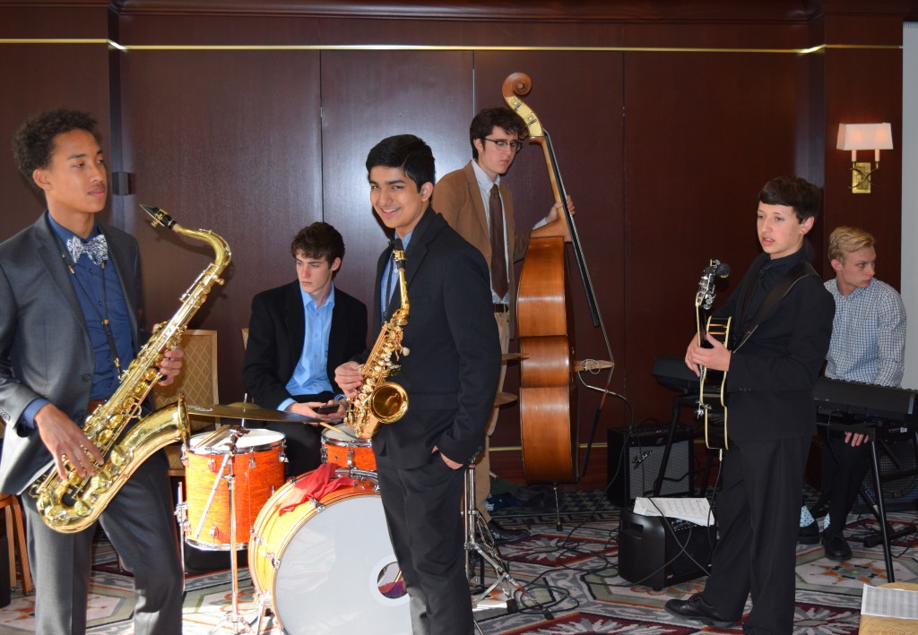 Jazz combo playing at the State of the Schools event