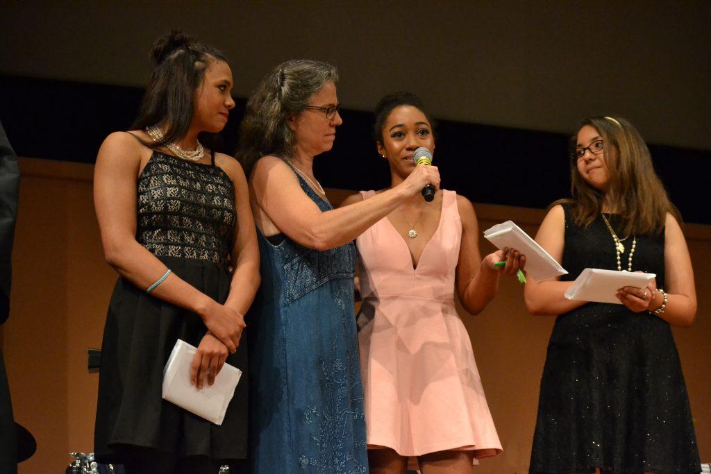 Each graduate spoke at the Community High School graduation. Photo by Jo Mathis.
