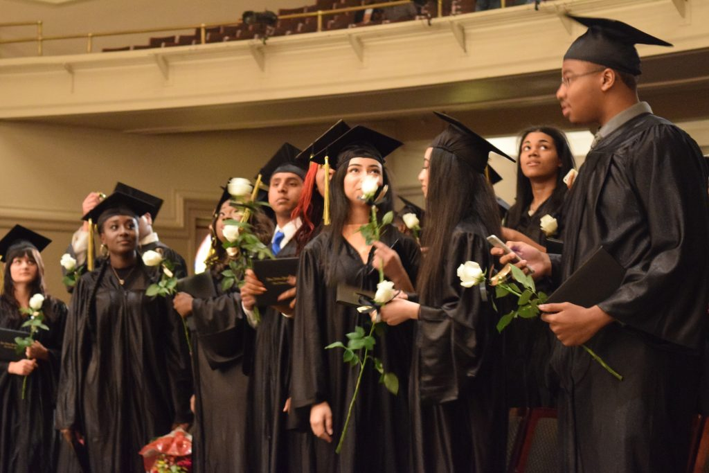 The Pathways to Success held its 2016 commencement at Pease Auditorium. Photo by Andrew Cluley.