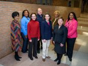 The Ann Arbor Public Schools Board of Education and Superintendent Jeanice Swift in Huron High School