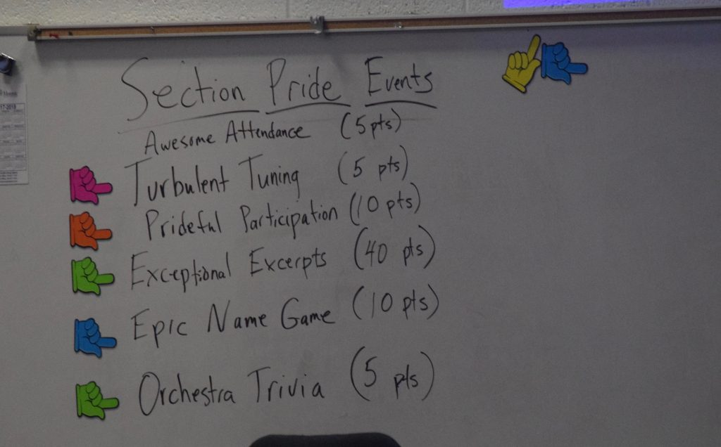 The list of events for Section Pride Day.