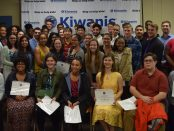 A group shot of the 46 graduating seniors that received scholarships from the Kiwanis Club of Ann Arbor.