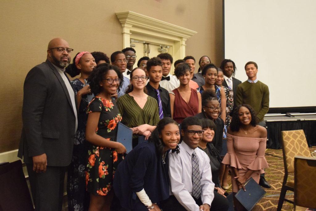 Pioneer High School staff and 2018 Freedom Fund Scholars