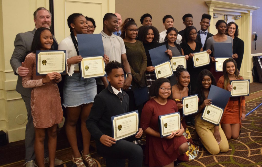 Skyline High School staff and 2018 Freedom Fund Scholars