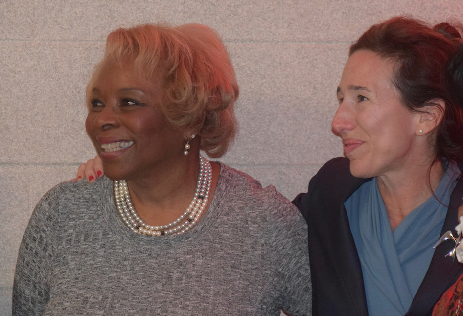 AAPS BOE Trustee Patricia Manley and President Christine Stead